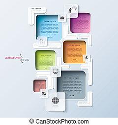 processus, résumé, moderne, gabarit, infographics