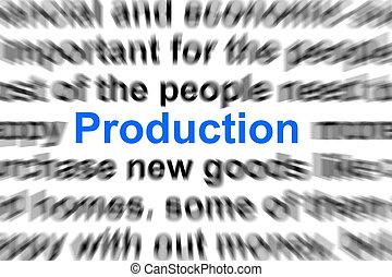production, concept