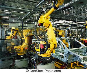 production voiture, ligne