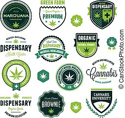 produit, étiquettes, marijuana