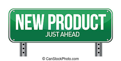 produit, illustration, signe, conception, nouveau, route