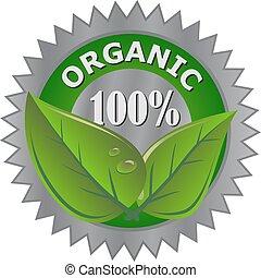 produit, organique, étiquette