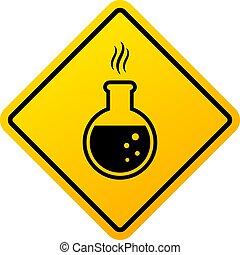 produits chimiques, signe danger, avertissement
