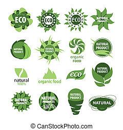 produits, naturel, icônes
