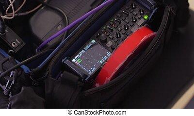 professionnel, audio, enregistreur