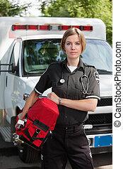 professionnel, unité, femme, ems, oxygène