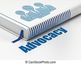 professionnels, advocacy, livre, fond, blanc, droit & loi, concept: