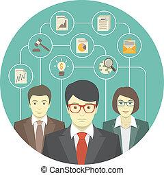 professionnels, collaboration