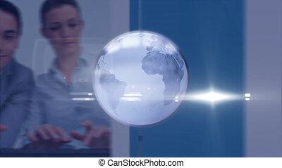 professionnels, fonctionnement, animation, sur, globe