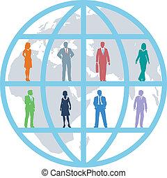 professionnels, global, équipe, mondiale, ressources