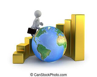 professionnels, global, -, croissance, petit, 3d