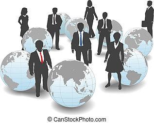 professionnels, global, main-d'oeuvre, équipe, mondiale