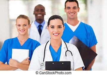 professionnels, groupe, healthcare