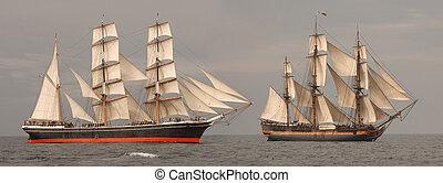 profil, grands bateaux
