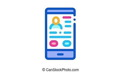profil, icône, animation