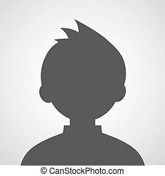 profil, image, avatar, homme