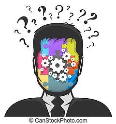 profil, problème, mâle, solution, avatar