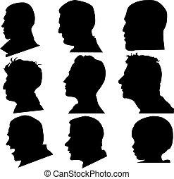 profil, vecteur, figure