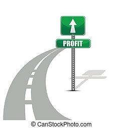 profit, conception, route, illustration
