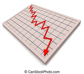 profit, graphique, crise, rouges, spectacles