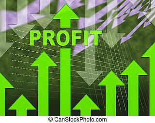 profit, graphique, croissance, revenu, gagner, spectacles