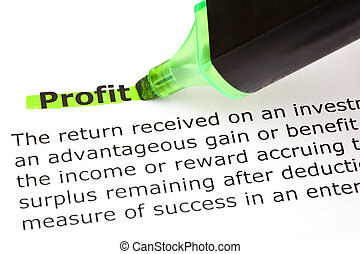 profit, mis valeur, vert