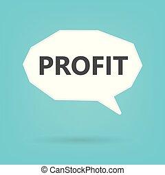 profit, mot, bulle discours