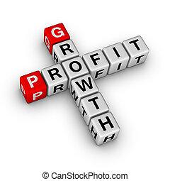 profit, mots croisés, croissance