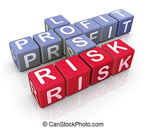 profit, mots croisés, risque, perte