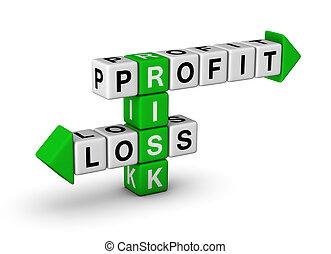 profit, perte, -, risque