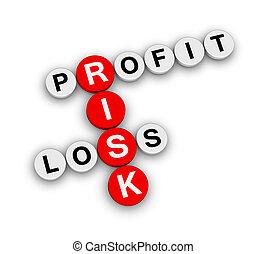 profit, perte, risque