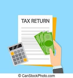 profit., retour, concept., impôt, idée, financier