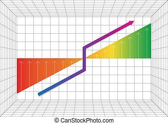 progrès, business, graphique