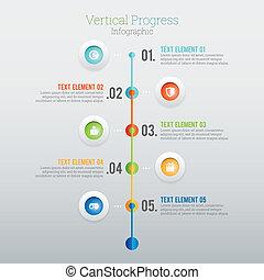 progrès, infographic, vertical