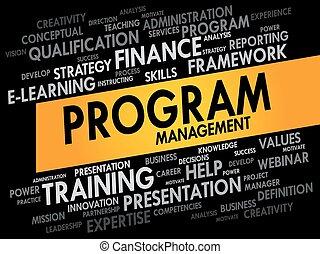programme, gestion, mot, nuage