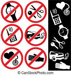 prohibition, signes