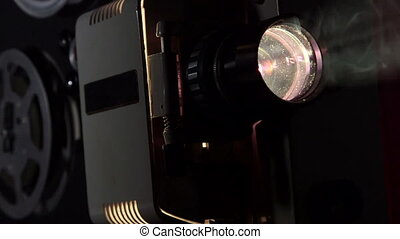 projecteur, 16 mm, film, dolly:, projeter, pellicule