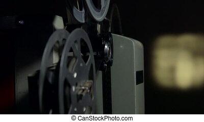 projecteur, vendange, dolly:, films, dépistage, pellicule