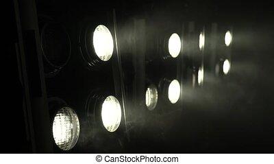 projecteurs, lumière, clair, brûlé