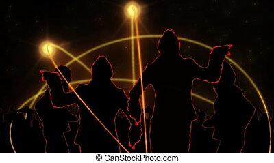 projection, animation, dancin, silhouette