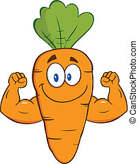 projection, carotte, bras, muscle