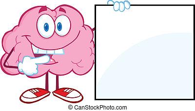 projection, cerveau, signe, vide