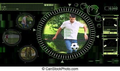 projection, interface, divers, extérieur