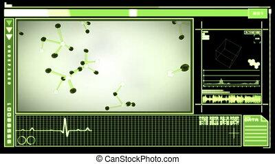 projection, interface, numérique, molécules