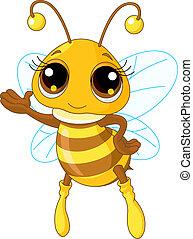 projection, mignon, abeille