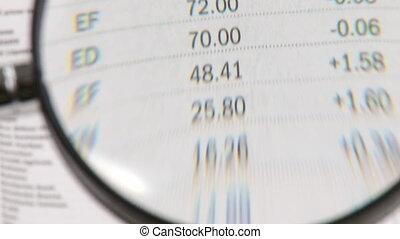 projection, nombres, verre, magnifier