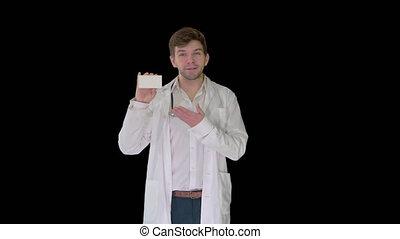 projection, pilules, docteur, mâle, vide, blanc, alpha, boîte, canal, marche