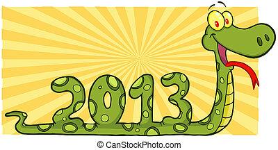 projection, serpent, 2013, nombres