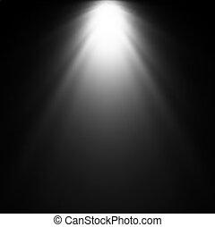 projector., lumière, vecteur, illustration, faisceau