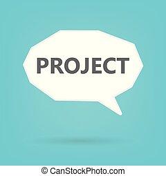 projet, bulle, concept, parole